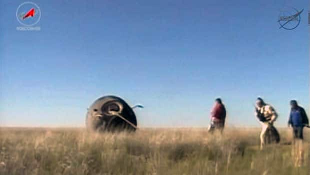 News - Hadfield's capsule lands
