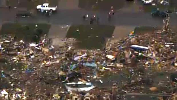 News - RAW: Tornado damage aerials