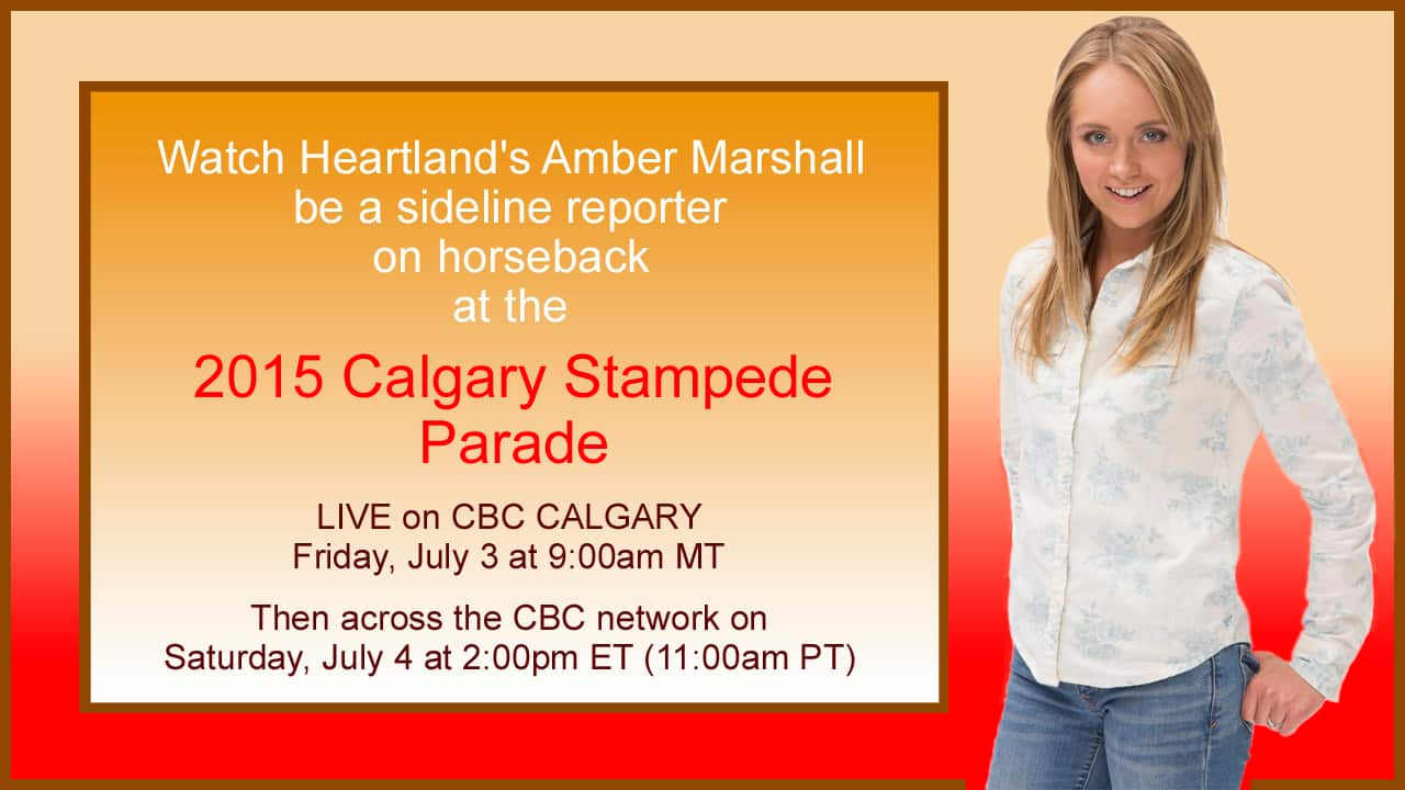 Watch Amber At The Calgary Stampede Parade Tomorrow