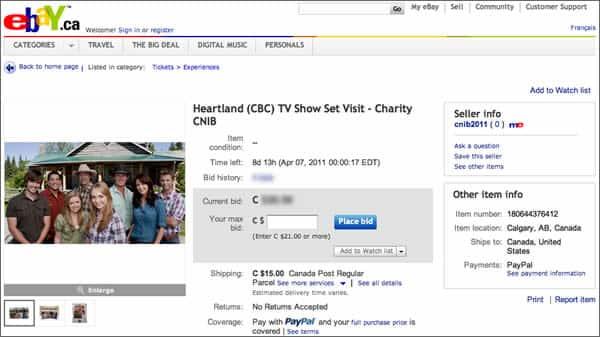 Bid On A Heartland Prize Package To Help The Cnib Heartland