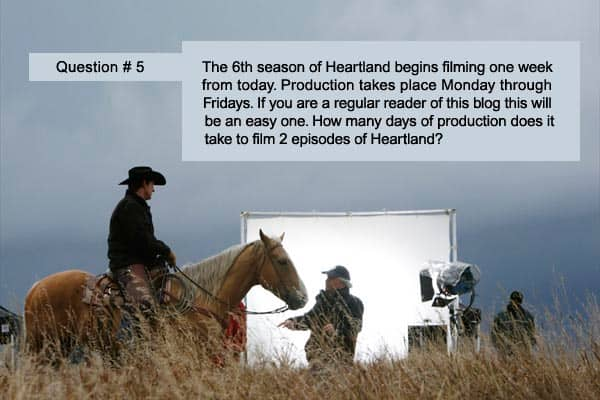 Monday, May 7 - Some Heartland trivia questions to keep you