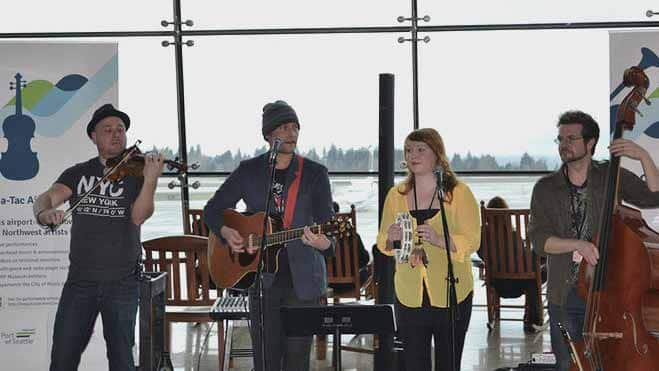 Seattle airport musicians