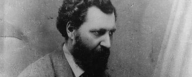 Louis Riel, 1865.  Library and Archives Canada