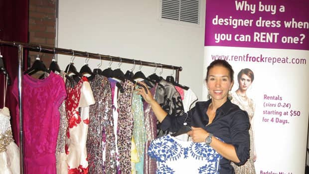 Lisa Delorme rents almost-new designer dresses to women across Canada. Her on-line business is just one manifestation of The Sharing Economy. Photograph by Anne Wright-Howard.