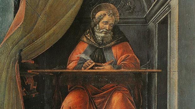 Saint Augustine in His Study by Sandro Botticelli, 1494, Uffizi Gallery
