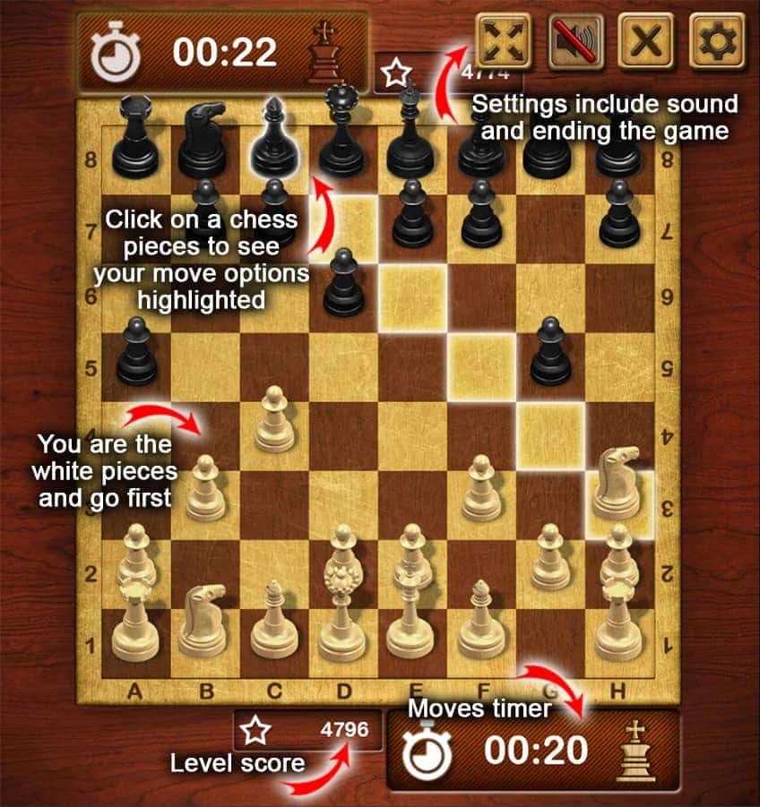 How to play Master Chess (screen capture)