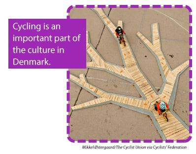 Cycling is an important part of the culture in Denmark.