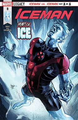 Iceman on cover of Marvel comic book