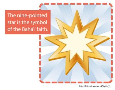Nine pointed star is the symbol of the Bahai faith