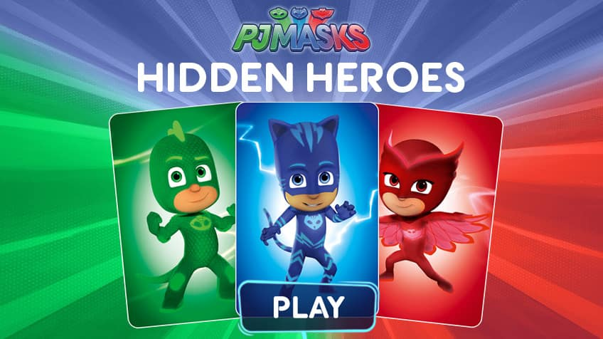 Matching Images >> PJ Masks: Hidden Heros | Play Free Online Kids Games | CBC Kids