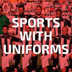 Sports with uniforms