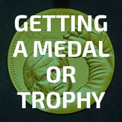 Getting a medal or trophy