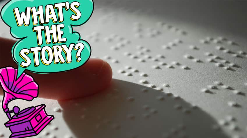 How people who are blind use braille to read and write