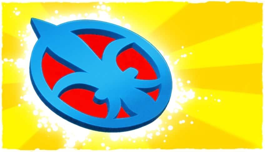 illustration of fleur-de-lis badge