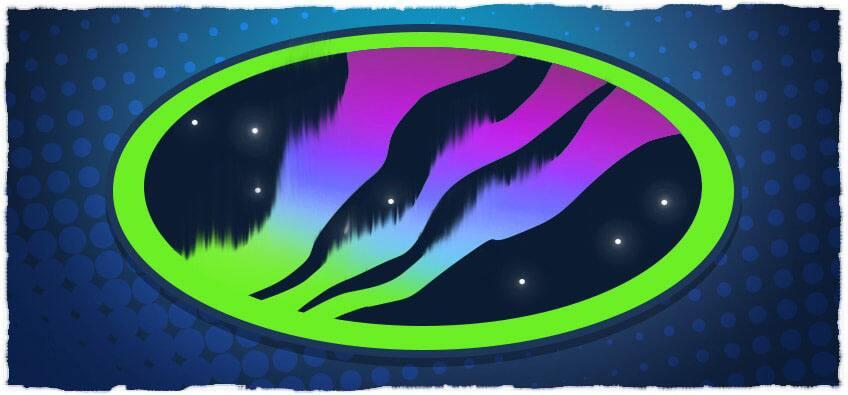 illustration of Northern Lights emblem