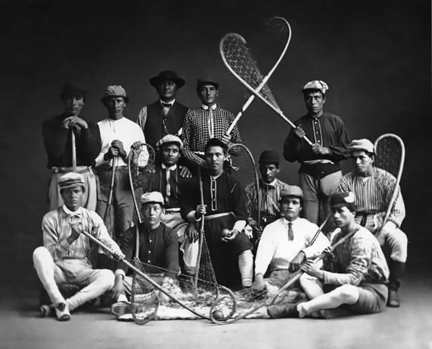 The Kahnawake Lacrosse Club, Montreal, 1867