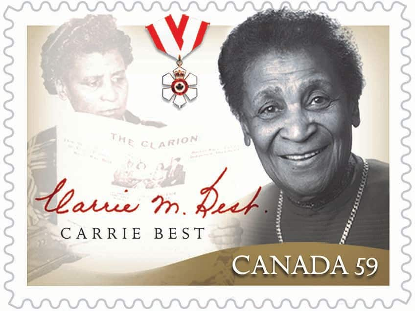 Civil rights activist Carrie Best, Canada Post stamp.