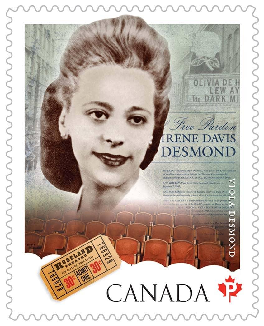 Civil rights activist, Viola Desmond — Canada Post stamp.
