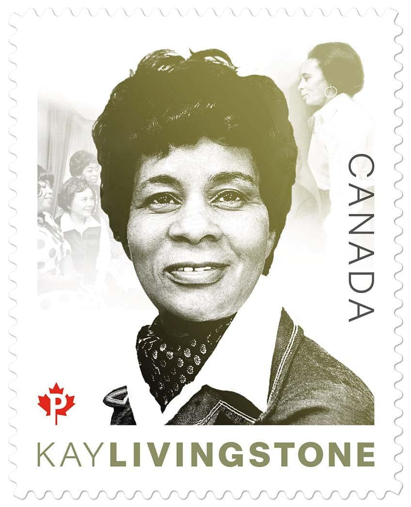 Broadcastor and actor Kay Livingstone, Canada Post stamp