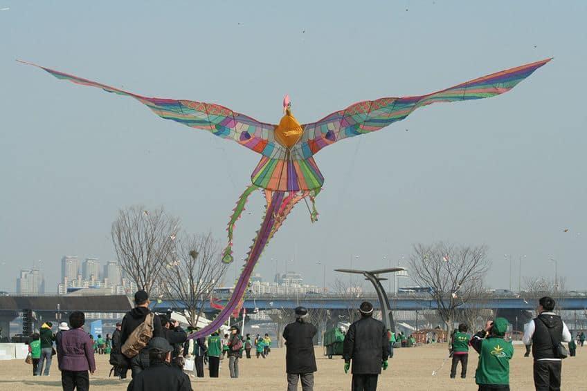 large bird kite in the sky