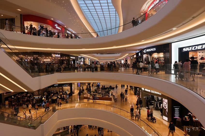 interior of the Goyang shopping mall on a busy day