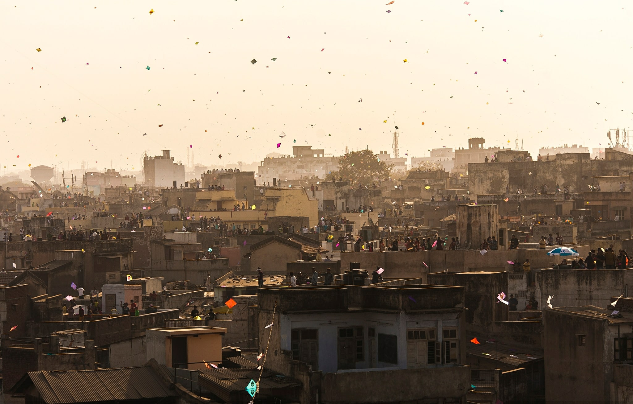 let s enjoy basant a huge kite flying festival explore  hundreds of kites fly high in the skies over the city of ahmedabad