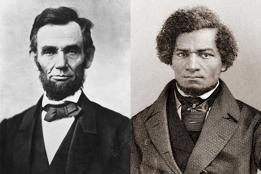 Abraham Lincolm and Frederick Douglass