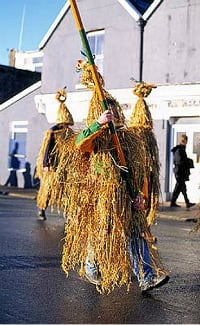 In Ireland, a costume made of straw to celebrate Wren Day