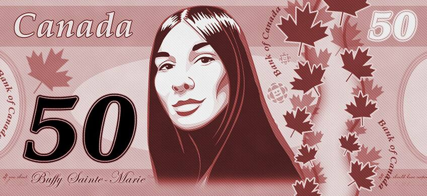 Buffy Saint-Marie on Canadian Money