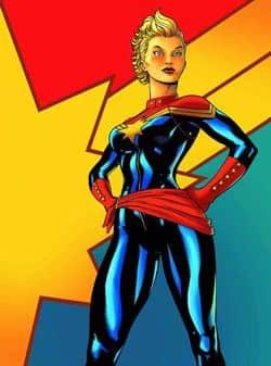 Superhero Captain Marvel.