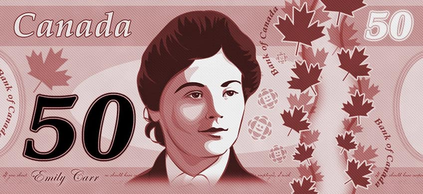 Emily Carr on Canadian money
