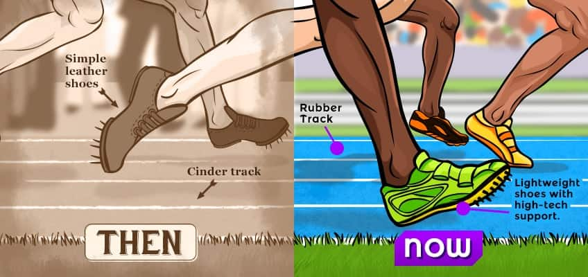A Look At Sports Gear Then And Now Explore Awesome Activities Amp Fun Facts Cbc Kids