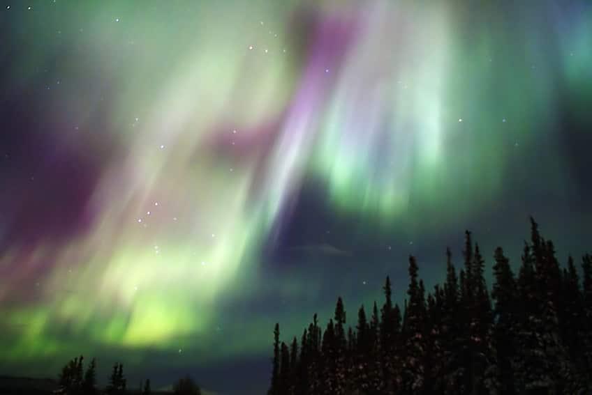 The Aurora Borealis over Whitehorse