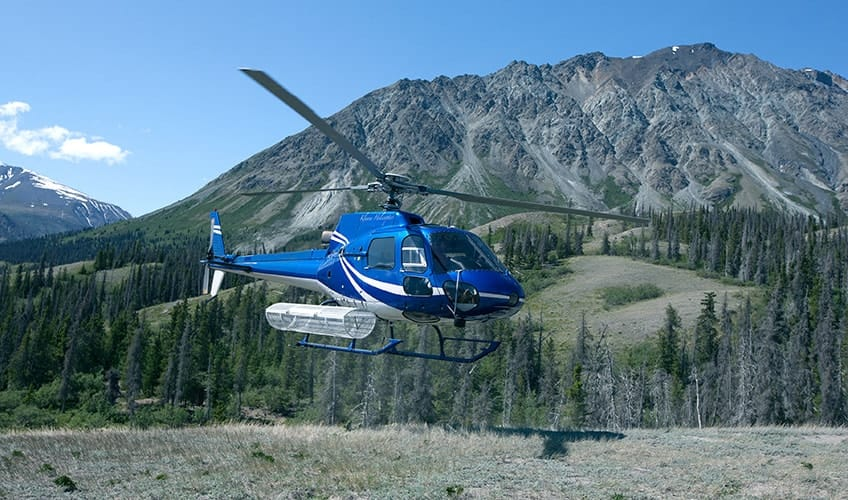 a helicopter that takes you to Kluane National Park