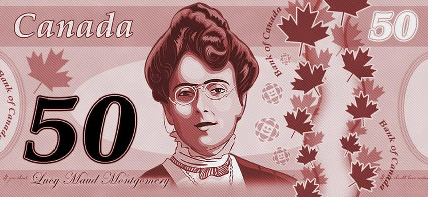 Lucy Maud Montgomery on Canadian money