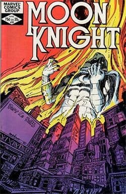 Comic book titled Moon Knight.