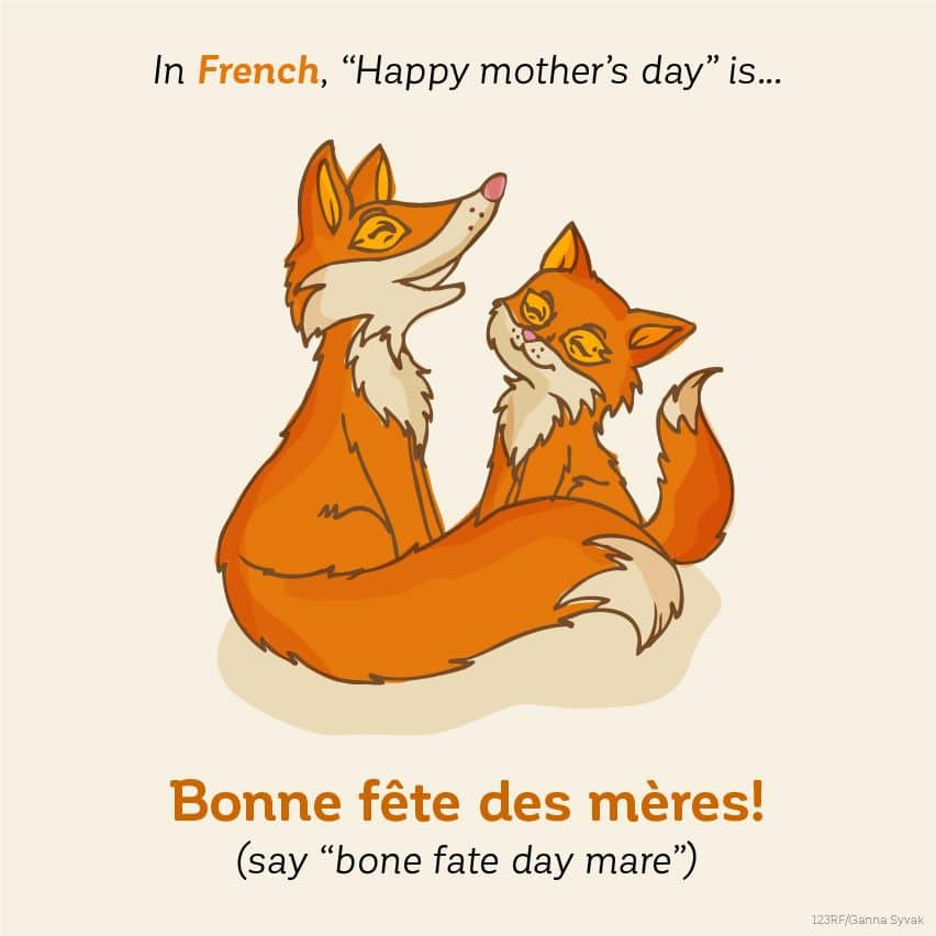 In French, Happy Mother's Day is