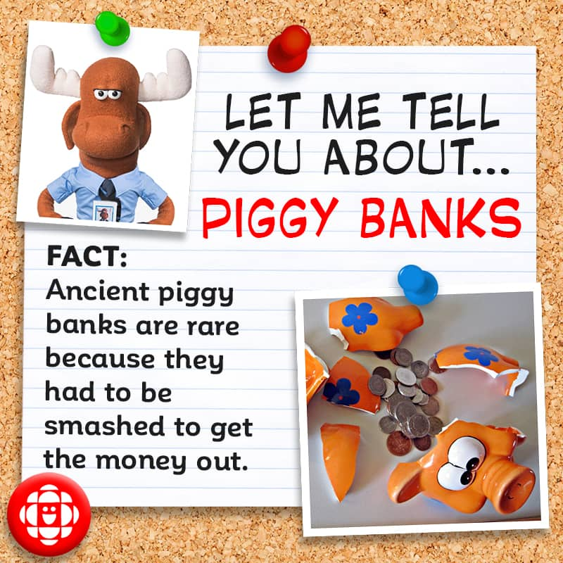 Ancient piggy banks had to be smashed to get the money out.