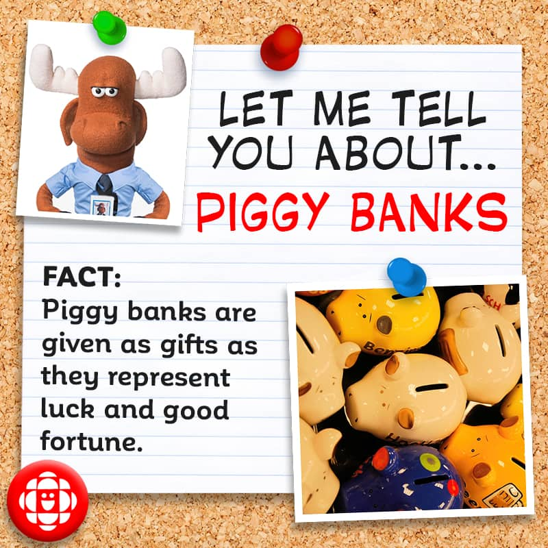 Piggy banks are given as gifts as they represent luck and good fortune.