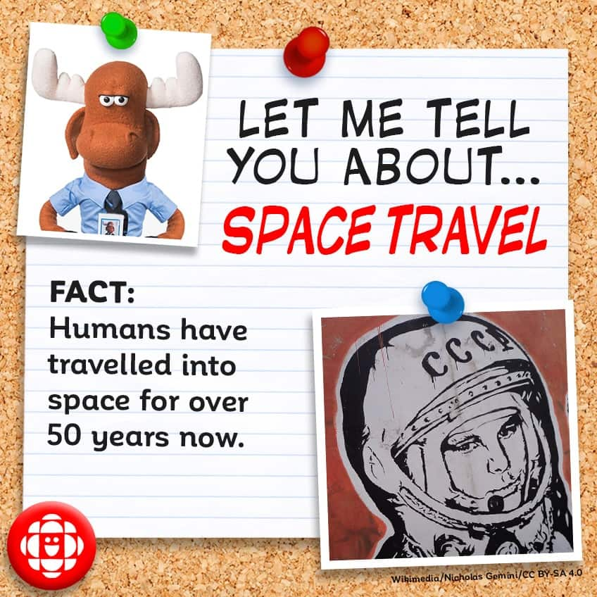 FACT: Humans have travelled into space for over fifty years now.