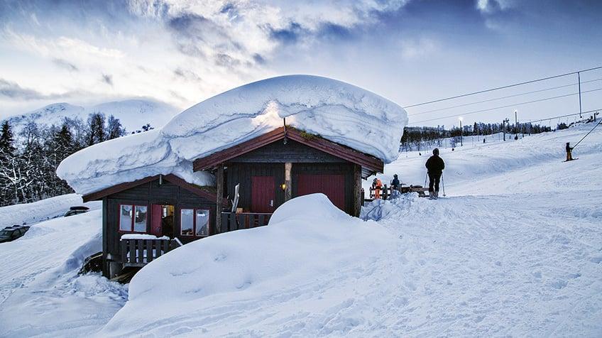 A ski lodge in Norway.