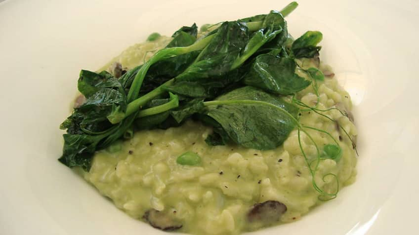 Risotto — a creamy rice from northern Italy.