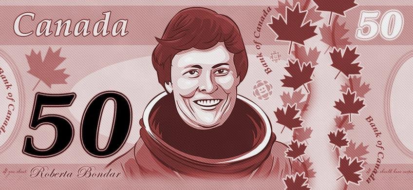 Roberta Bondar on Canadian money