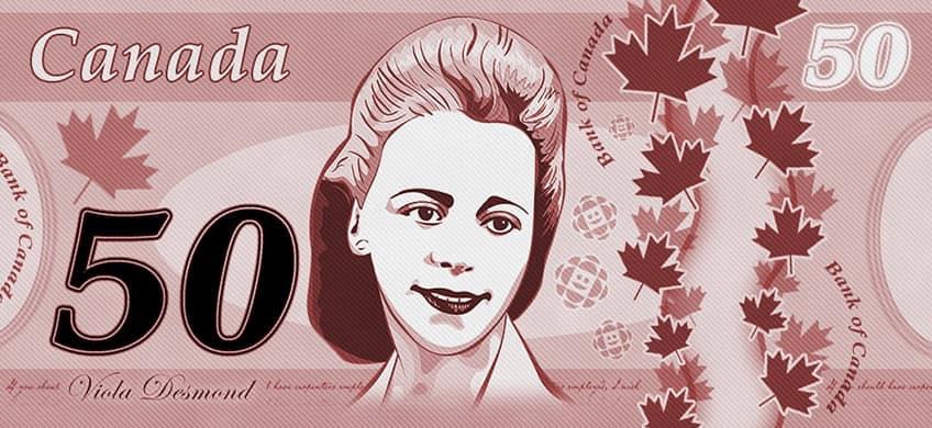 Viola Desmond on Canadian money