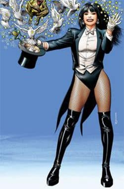 Zatana — a superhero who casts spells by speaking backwards.