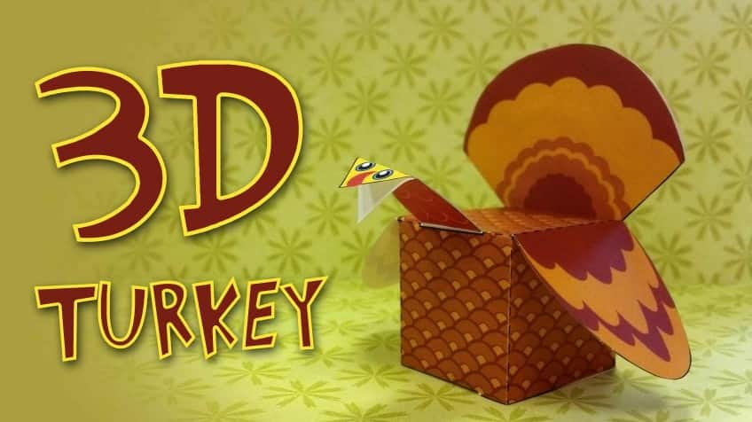 celebrate thanksgiving with your own 3d turkey