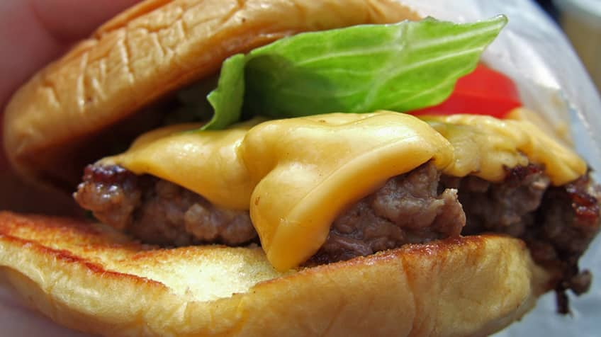 April Fool's Day hoax, the left-handed burger