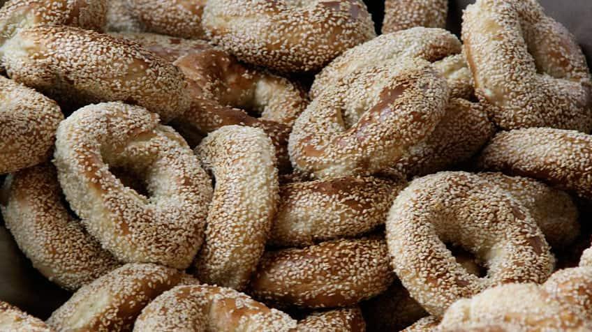Sesame seed bagels.