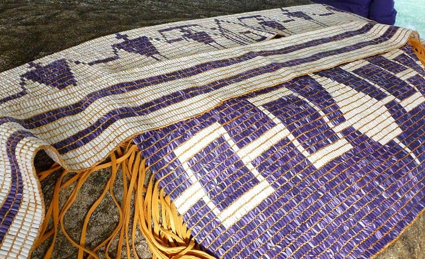 wampum belts with designs of people