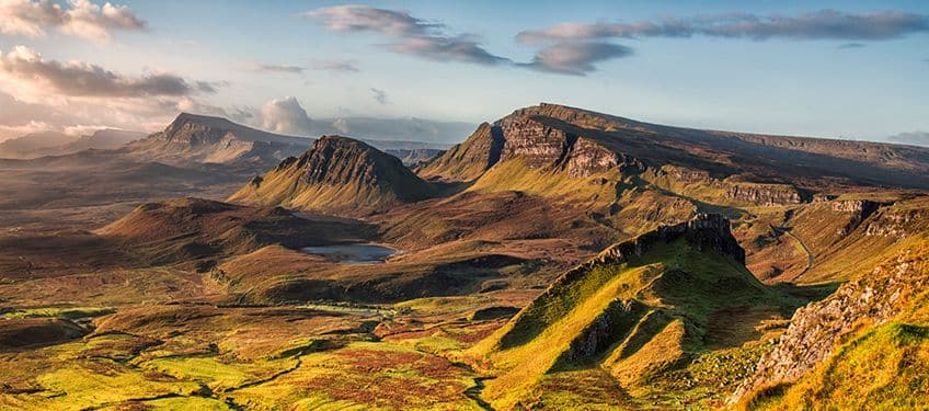 overhead  view of the mountains of Isle of Skye